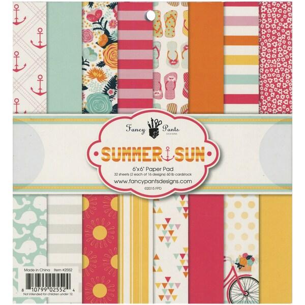 Fancy Pants Designs Paper Pad 6inX6in 32/PkgSummer Sun