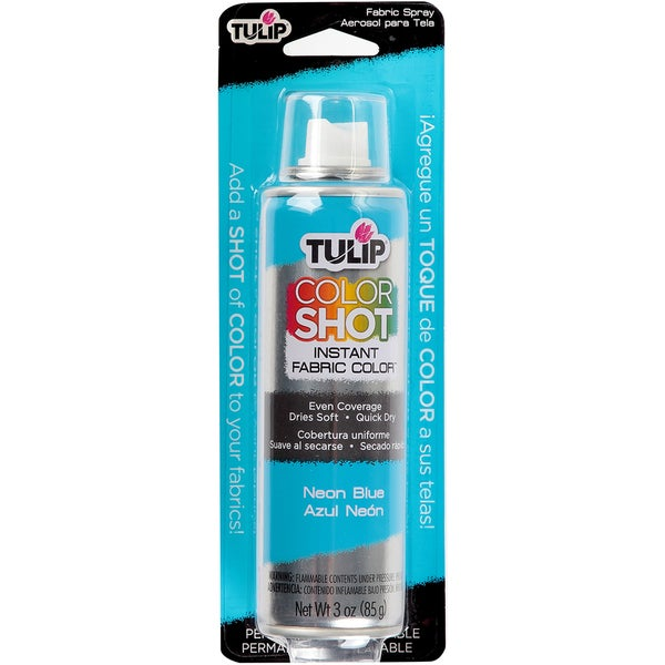 Tulip Color Shot Instant Fabric Color Spray 3ozNeon Blue