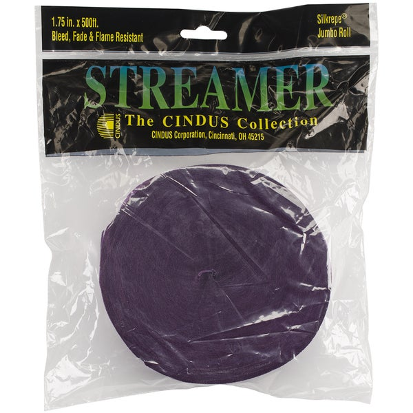 Crepe Streamers 1.75inX500'Purple