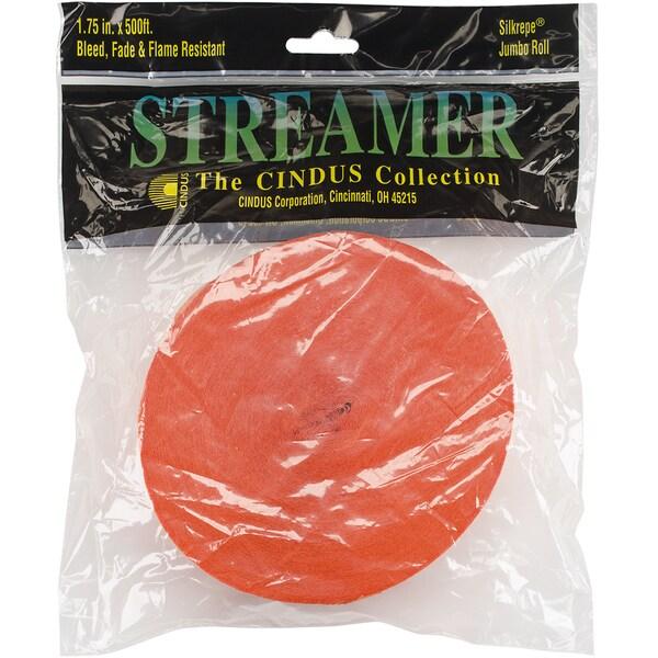 Crepe Streamers 1.75inX500'Bright Orange