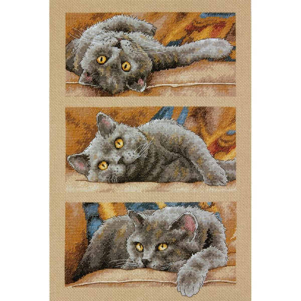 Max The Cat Counted Cross Stitch Kit10inX15in 14 Count 16242324