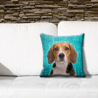 Beagle Grunge 16-inch Throw Pillow