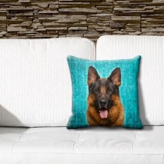 German Shepherd Grunge 16-inch Throw Pillow