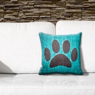 Rescue Dog Grunge 16-inch Throw Pillow