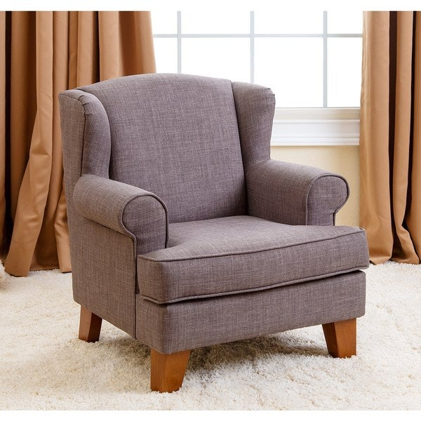 Abbyson Living Kids Lorraine Wingback Grey Mini Chair