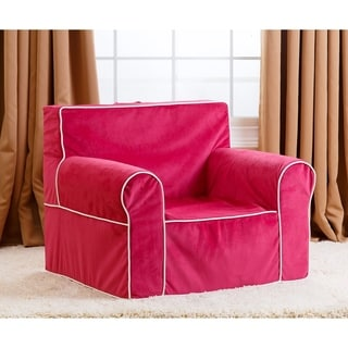 Abbyson Living Kids Oversized Pink Everywhere Chair