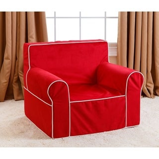 Abbyson Living Kids Oversized Red Everywhere Chair