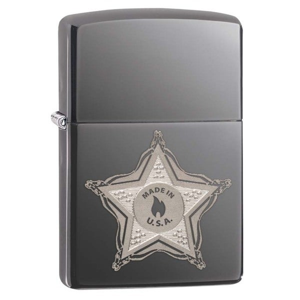 Zippo Sheriff Badge Black Ice Lighter