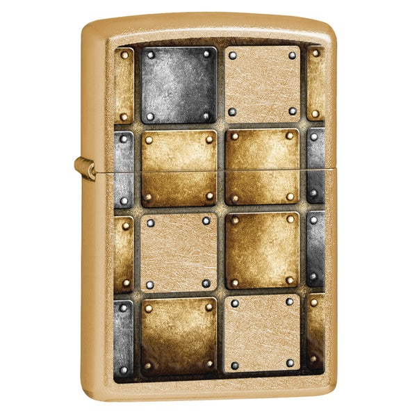 Zippo Metal Design Gold Dust Windproof Lighter