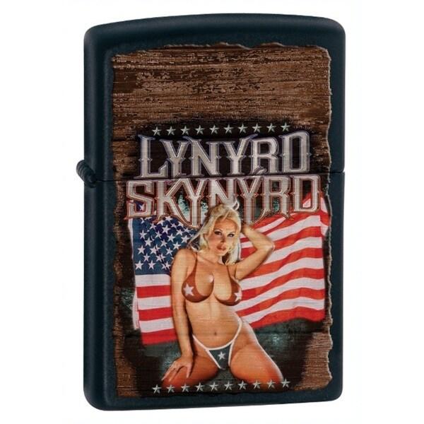 Zippo Lynyrd Skynyrd American Magnet Girl Black Matte Lighter