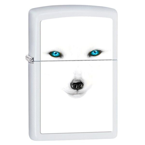 Zippo Artic Fox White Matte Lighter