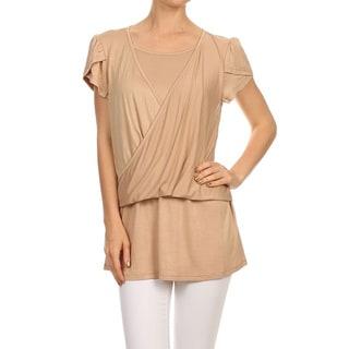Women's Double Layer Short Sleeve Top