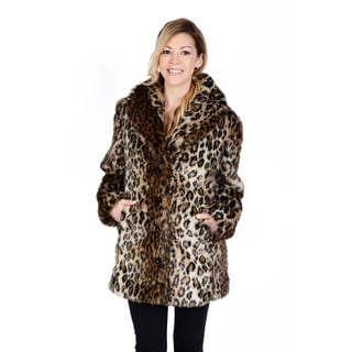 Excelled Women's Leopard Faux Fur