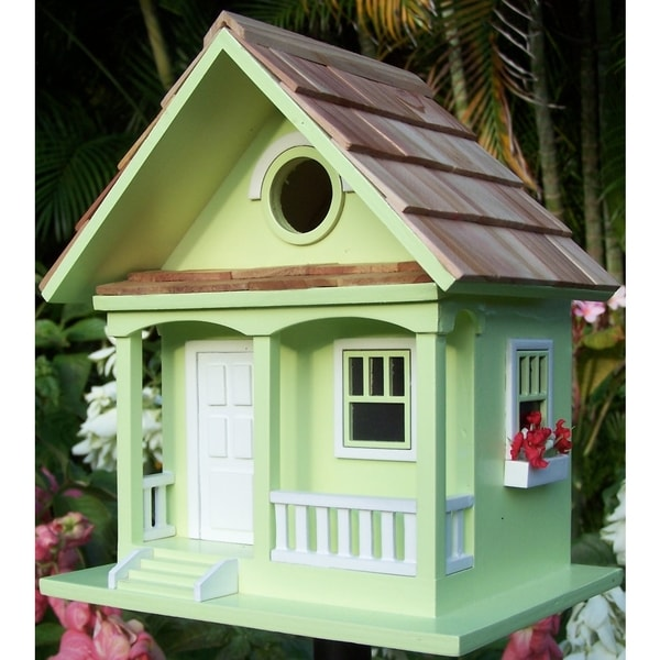 key lime Cottage Birdhouse