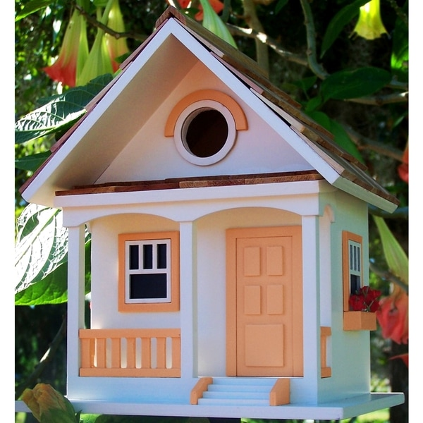 Peaches N' Cream Cottage Birdhouse
