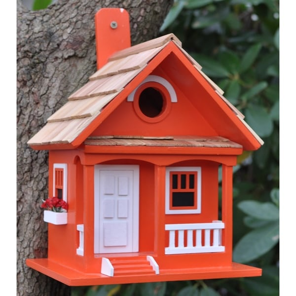 Tangerine Cottage Birdhouse