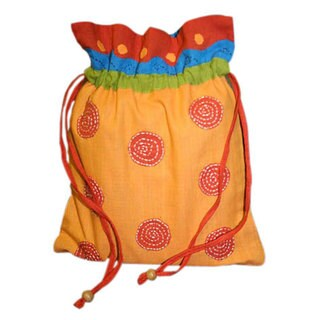 Chakra Handmade Draw String Pouch
