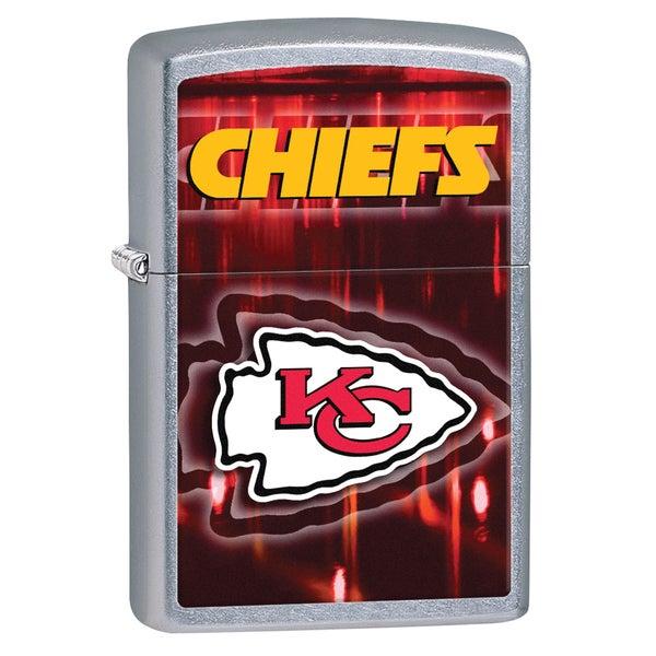 Zippo NFL Kansas City Chiefs Street Chrome Windproof Lighter 16243049