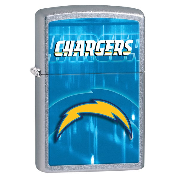 Zippo NFL San Diego Chargers Street Chrome Windproof Lighter 16243050