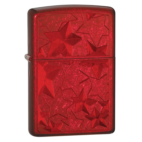 Zippo Stars Candy Apple Red Lighter