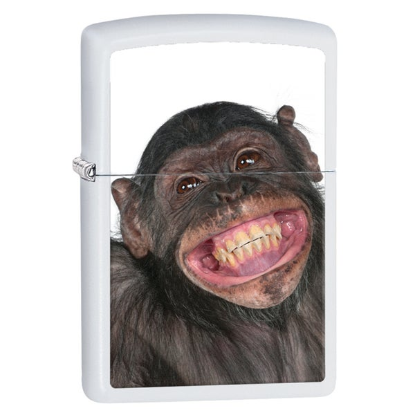 Zippo Monkey Crown White Matte Windproof Lighter