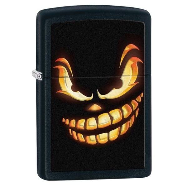 Zippo Jack O' Lantern Black Matte Lighter