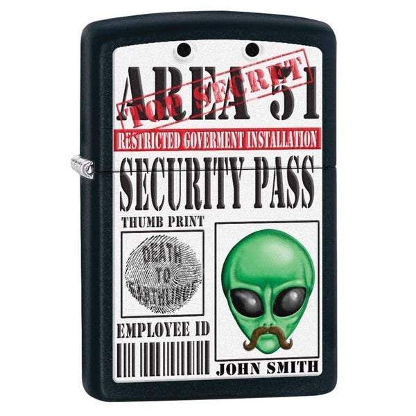 Zippo Security Pass Black Matte Lighter