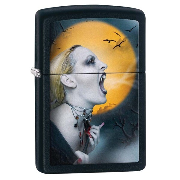 Zippo Screaming Vampiress Black Matte Lighter