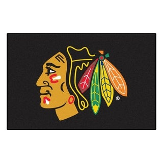 Fanmats Chicago Blackhawks Black Nylon Starter Mat