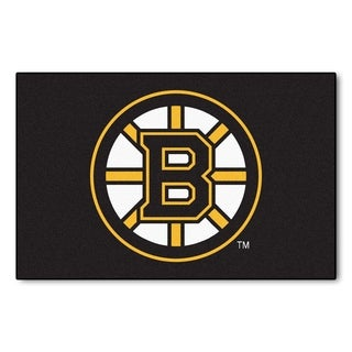 Fanmats Boston Bruins Black Nylon Starter Mat