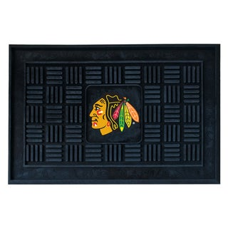Fanmats Chicago Blackhawks Black Vinyl Medallion Door Mat
