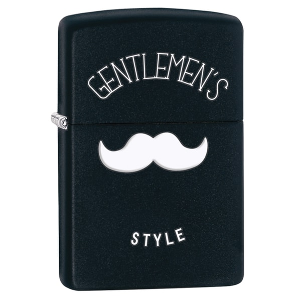 Zippo Gentlemans Style Black Matte Windproof Lighter