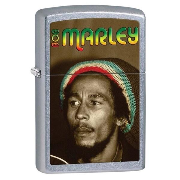 Zippo Bob Marley Street Chrome Lighter