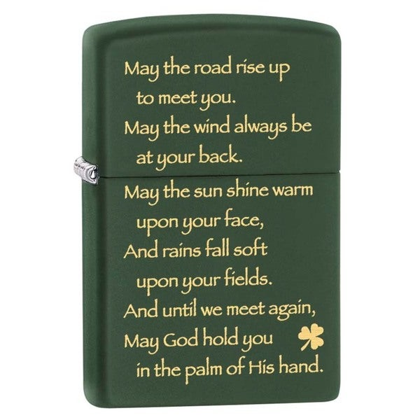 Zippo Irish Blessing Green Matte Lighter