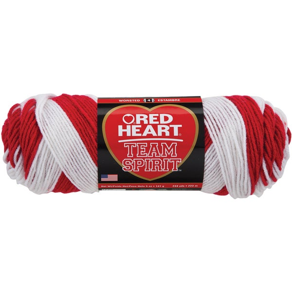 Red Heart Team Spirit YarnRed & White