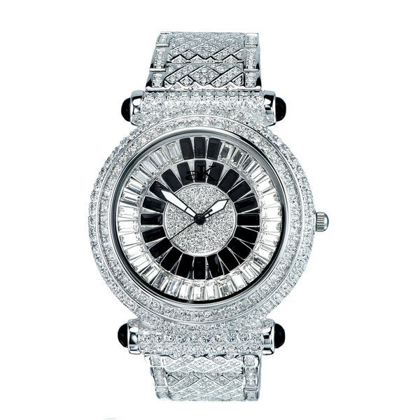Adee Kaye Mid Size Round & Baguette Crystal Timepiece