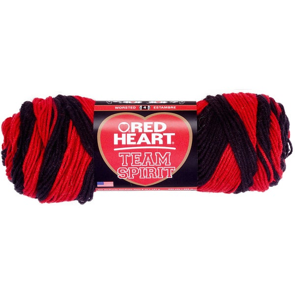 Red Heart Team Spirit YarnRed & Black