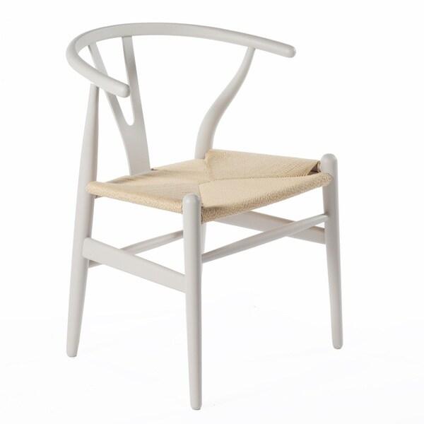 Hans Andersen Home Wishbone Chair Warm Grey Base/Natural Seat