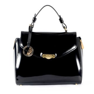 Versace Collection Satchel with Gold Hardware