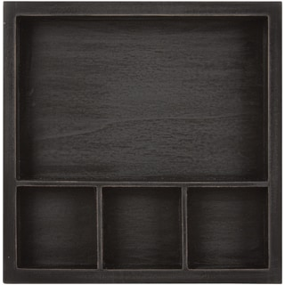 Solo Shadow Box Tray 6inX6inBlack, Holds (1) 6inX4in & (3) 2inX2in Photo