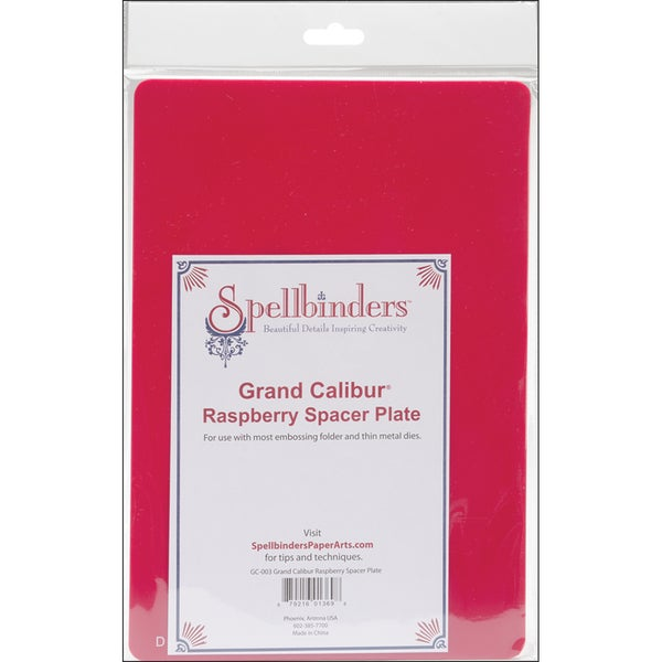Spellbinders Grand Calibur Spacer Plate 8.25inX11.75inRaspberry