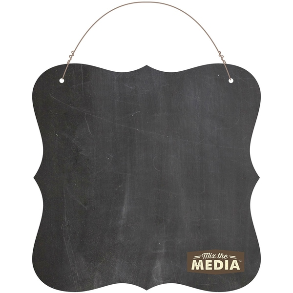 Mix The Media Chalkboard Surface Plaque10inX10in