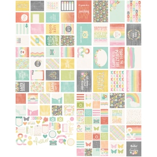 Sn@p! DoubleSided Cards & Bits/Pieces DieCuts Pack 131pcsHappy