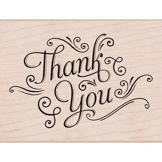 Hero Arts Mounted Rubber Stamps 4.25inX3.25inThank You W/Flourishes