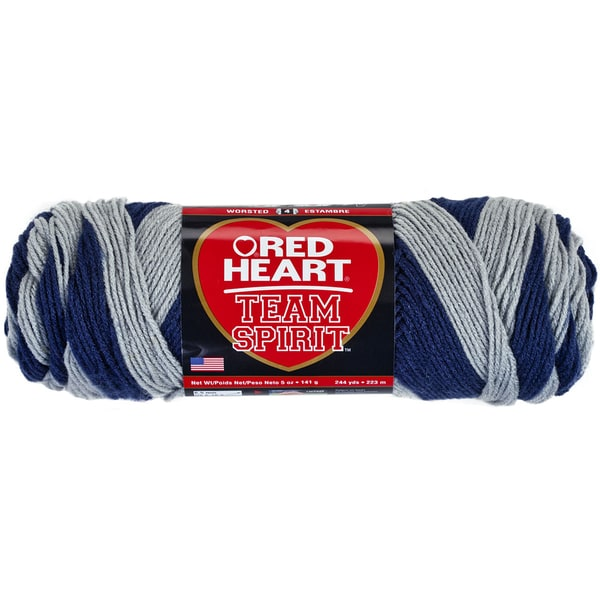 Red Heart Team Spirit YarnNavy & Grey