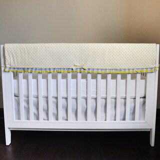 Pam Grace Creations Argyle Giraffe Crib Rail Guard Cover