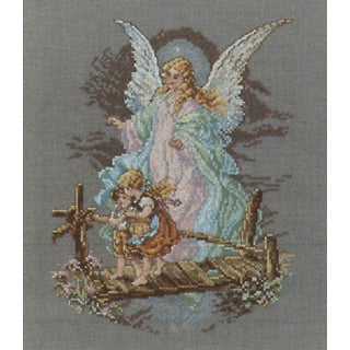 Guardian Angel Counted Cross Stitch Kit7.5inX9.875in 14 Count