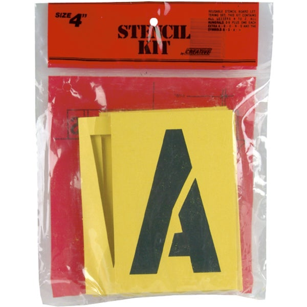 Reusable Stencil Lettering Kit4in