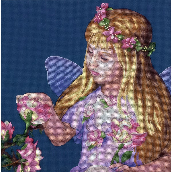 Rose Fairy Counted Cross Stitch Kit11inX11in 14 Count 16245695