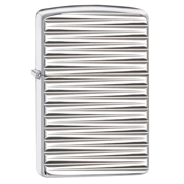 Zippo Engine Turn Horizontal Armor High Polish Chrome Windproof Lighter